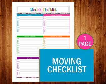 Auto maintenance instant download pdf printable for Home owner builder checklist
