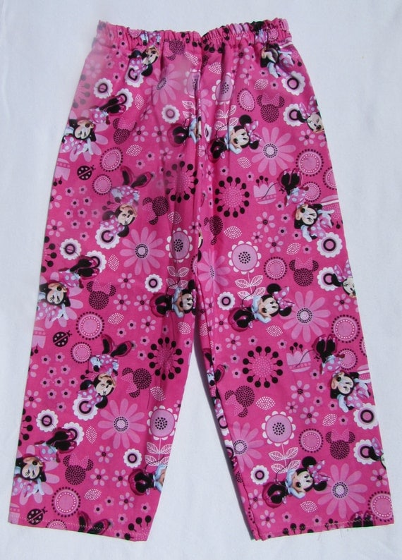 Minnie Mouse pajamas / Minnie Mouse pajama pants / toddler pajamas / girls pajamas / cotton pajamas / Minnie Mouse / pajama pants