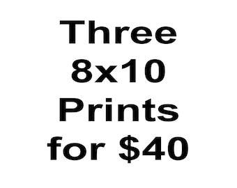 Any Three 8x10 Prints DISCOUNT
