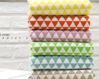 "Set of 7, 1/8 Yard Each, 0.67""(1.7cm) Mini Triangle Cotton Fabric"