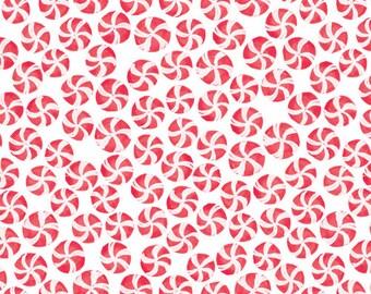Half Yard - Cloud9 Festive Peppermint Twist Holiday Christmas Fabric