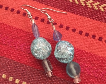 Imperfect Aqua earrings