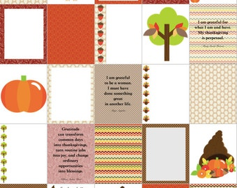 THANKSGIVING CORNUCOPIA TURKEY Gratitude for use with Erin Condren Life Planner (vertical) - digital - Instant Download