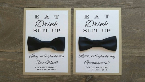 Will you be my groomsman card bow tie bridal party like this item junglespirit Image collections