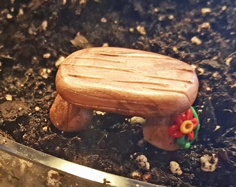 Fairy Garden Wooden Bench