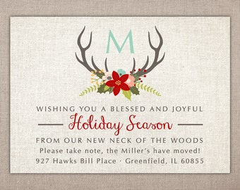 Holiday Moving Announcement - Printable Card