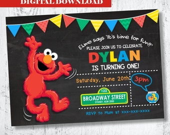 Elmo Invitation. Boys Elmo Printable Invitation. Boys Printable Invitation. Sesame Street Invitation. Elmo and Dorothy Invitation. Elmo Fish
