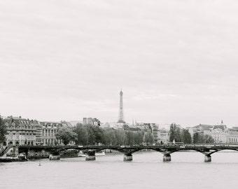 Paris Eiffel Tower on Seine, Paris Photography, Romantic Art, Paris Wall Art, Paris Decor, Paris Sunset, Paris Nursery Decor, Eiffel tower