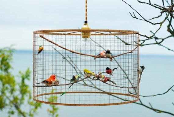 Copper birdcage pendant light chandelier shopswell copper birdcage pendant light chandelier aloadofball Image collections