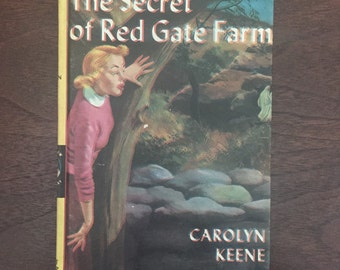 Nancy Drew Book, Secret of Red Gate Farm, #6, 1961, Vintage Nancy Drew, Out of Register