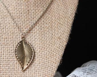 Gold Leaf Charm Necklace