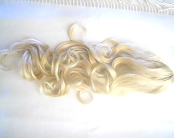 "Long Gold/Platinum Blond Fall/Ponytail 21"" High Quality Synthetic Wig"
