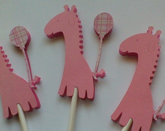 Cupcake Toppers Giraffe Cupcake Toppers Baby Girl Cupcake Toppers Girl Cupcake Toppers Baby Shower Cupcake Toppers Birthday Cupcake Toppers