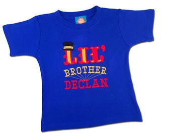 Little Brother Circus Birthday Shirt with Name