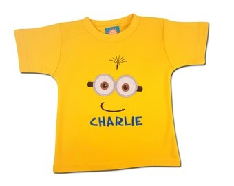 Boy's Yellow Friendly Face Shirt with Embroidered Name - #1