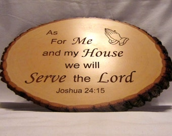 Personalized Wood Rustic Signs - Serve the Lord