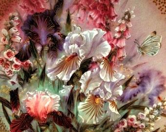 Lena Liu Iris Quartet Collector Plate 1991 Numbered 9442J First Issue