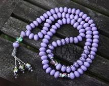 Handmade Lavender 99 count tasbih Wooden beads Wood beads Purple tesbih Prayer beads Rosary beads Islamic gift Eid gifts Handmade rosary