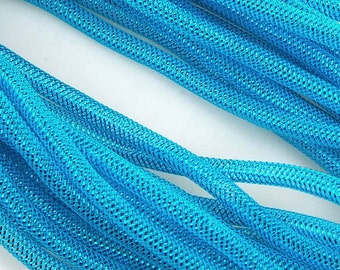 Solid Mesh Tubing Deco Flex Ribbon, 8mm, 10 Yards