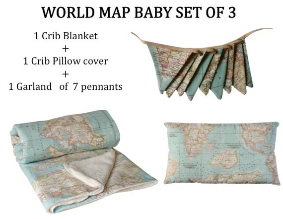 WIKI PILLOW Cushions Pads And Blankets Hand Made In Spain - World map blanket