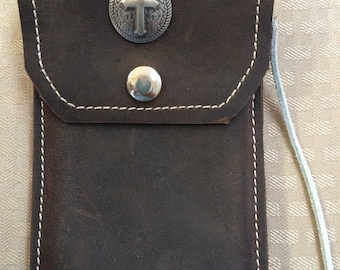 Leather iphone6 case for saddle