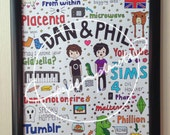 DAN & PHIL COLLAGE // youtubers in typography
