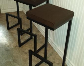 "Bar stool 35""x14""x12"", modern bar stool, cool stool, counter stool, seat, chair, designer bar stool, kitchen stool, welded bar stool, steel."