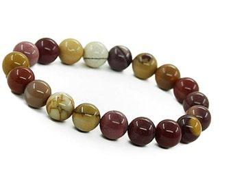10mm Mookaite Jasper Bracelet,Mookaite Bracelet,Mookaite Jewelry,Colorful Mookaite Jasper Stone Bracelet,Jasper Bracelet,Mookaite Mala Beads