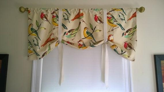 Bird Valancebird Tie Up Valance Kitchen Curtain Bathroom