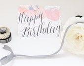 Happy Birthday Card   Mother's Birthday   Mom's Birthday   Wife's Birthday   Girl's Birthday   Greeting Card   Floral   Flowers