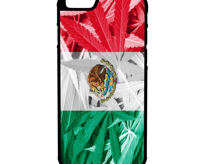 Mexico Weed Flag iPhone Galaxy Note LG HTC Hybrid Rubber Protective Case Kush