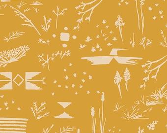 Bound - Survey Ochre - April Rhodes - Art Gallery Fabrics (BOU-8050)