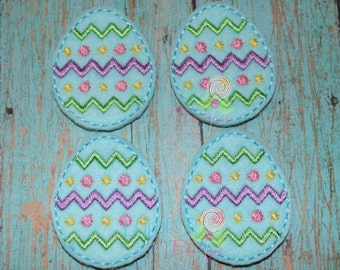 Easter Egg Felties - Felties - Felt Appliques - Set of 4