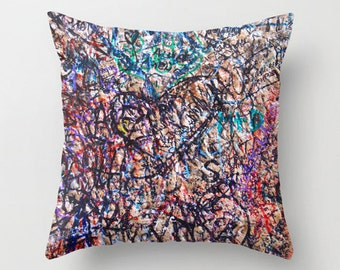 Graffiti Pillow - Velveteen Pillow - Graffiti - Italy Pillow - Verona Love Graffiti - Teen Pillow - Girls Pillow - Dorm Decor - Gifts