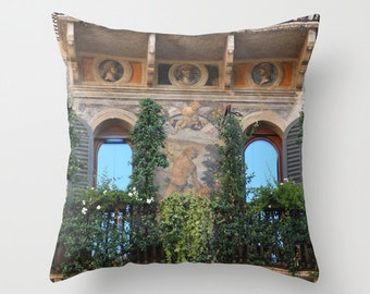 Velveteen Pillow - Italy Pillow - Photo Pillow - Verona - Italy - Italy Decor - Italy Accent Pillow - Unique Gift Idea - Gifts for Her