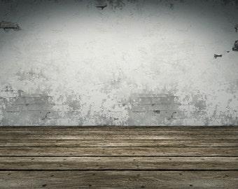 Grey Concrete wall Photography Backdrop,Weathered Wood,Barn Wood Vinyl Backdrop  D6134