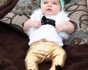 Gold Shimmer Leggings,  leggings, pants, baby leggings, birthday, gold, shimmer, glitter, metallic