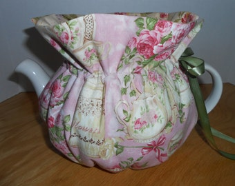 Tea Cozy,Teapot Cover,6-8 Cups,Teapot Warmer,Tea Accessory,Mother's Day Gift,Hostess Gift