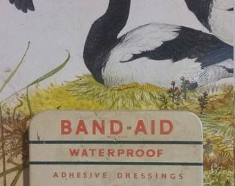 Vintage Johnson and Johnson Band-Aid  Collectible Tin made in England