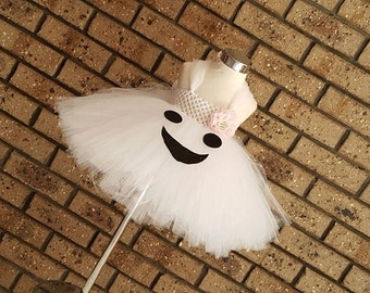 Ghost Dress-White & Black Tutu Dress,Halloween Costume