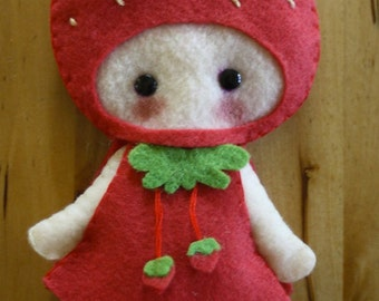 Strawberry Girl Doll- Critterwood  Collection