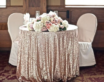 Sequin Tablecloth / Sweetheart Tablecloth / Wedding Cloth / Rose Gold /  Sequins / Sparkle /