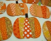 Pumpkin Mug Rugs - Coasters - Set of 4