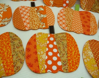 Pumpkin Mug Rugs - Coasters - Set of 4