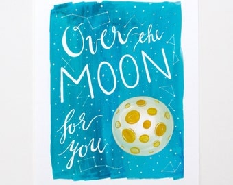 8x10 Over the Moon Print