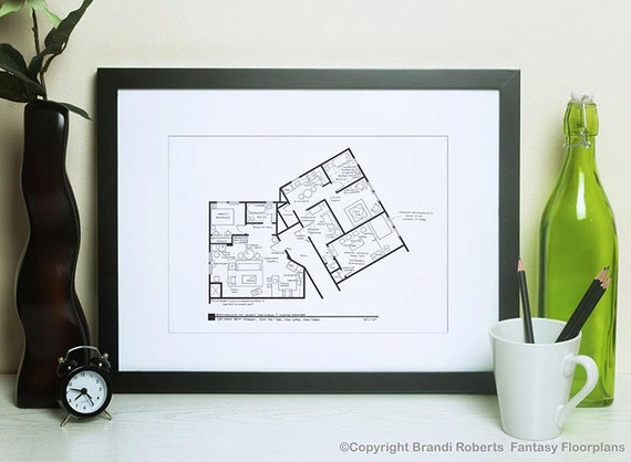 Seinfeld And Kramer Apartment Floor Plan Famous Tv Show