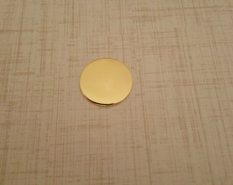 Nu Gold 7/8 inch Round Stamping Blanks - Nu Gold Blanks