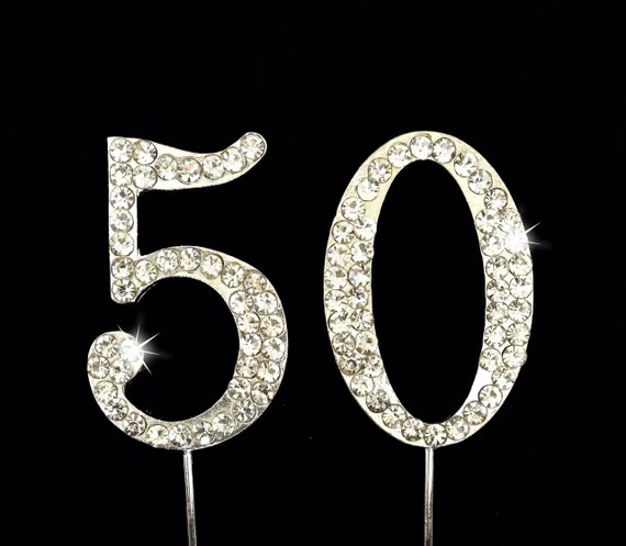 50th Birthday Cake Topper - 50th Anniversary Cake Topper - 1.75 Inches ...