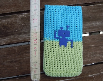 """smartbag """"Martian"""" - cell phone bag, cotton wool with little application"""