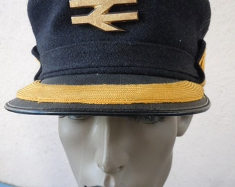 Size 7 3/8 ** Super Cool 1960s British Conductor's Hat